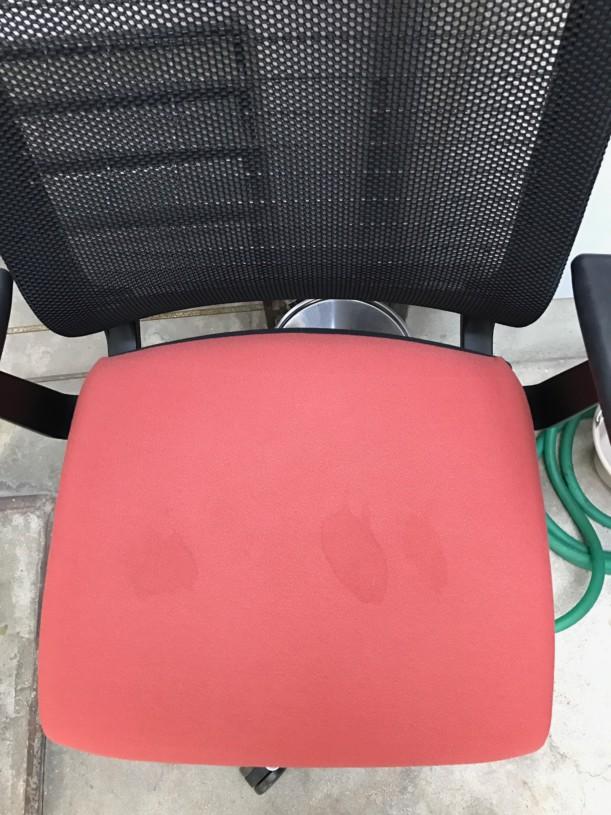 椅子洗浄作業前